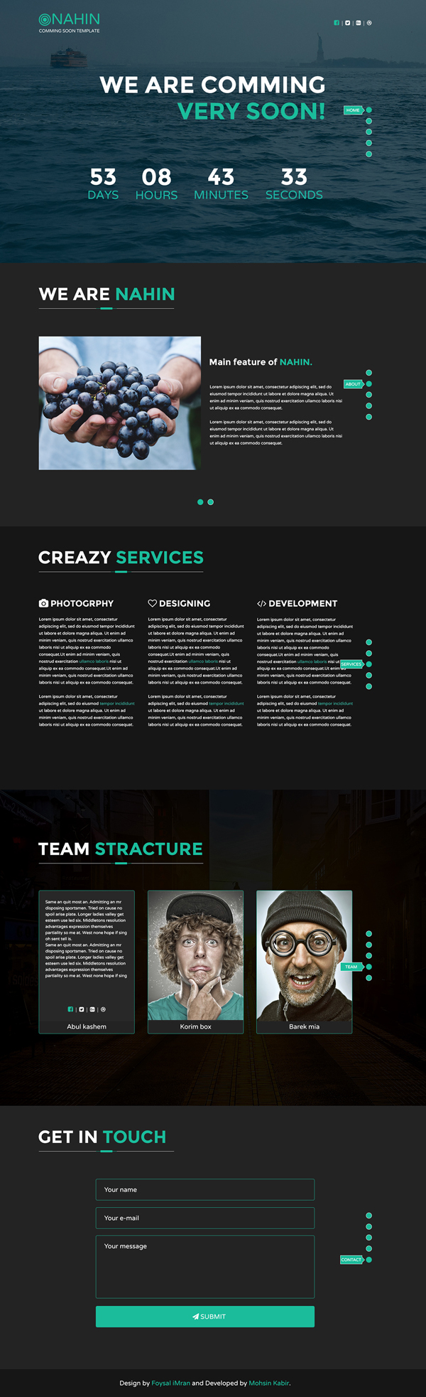 Free Comming Soon Landing Page PSD Template
