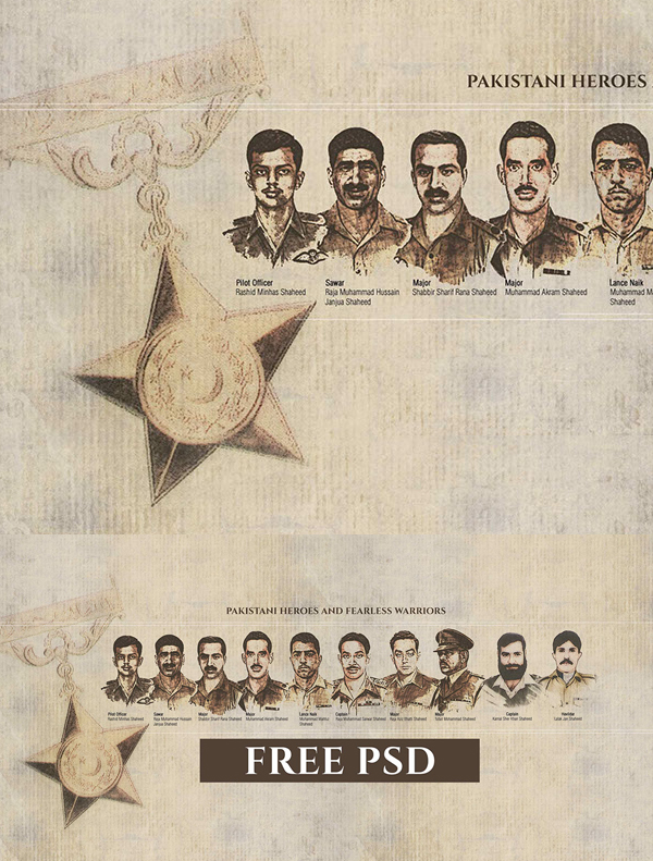Pakistani Heroes and fearless warrior