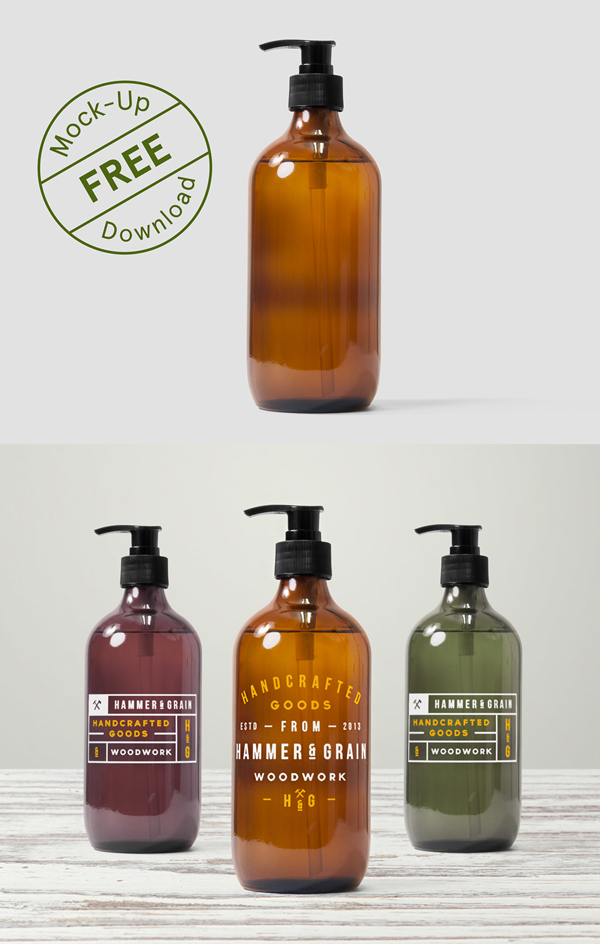 Free Dispenser Bottle Mockup