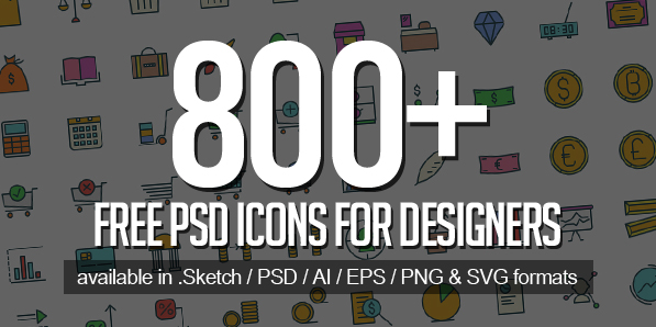 Free PSD Icons: 800+ Icons for Designers