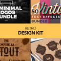Post thumbnail of Retro Design Kit –  600+ Logos, Fonts and Textures