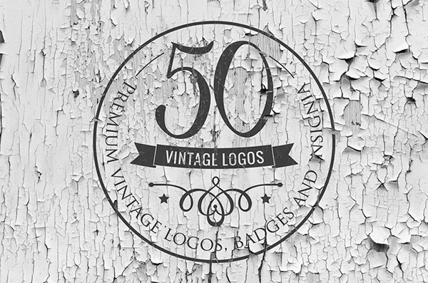 50 Vintage Logos and Badges Templates