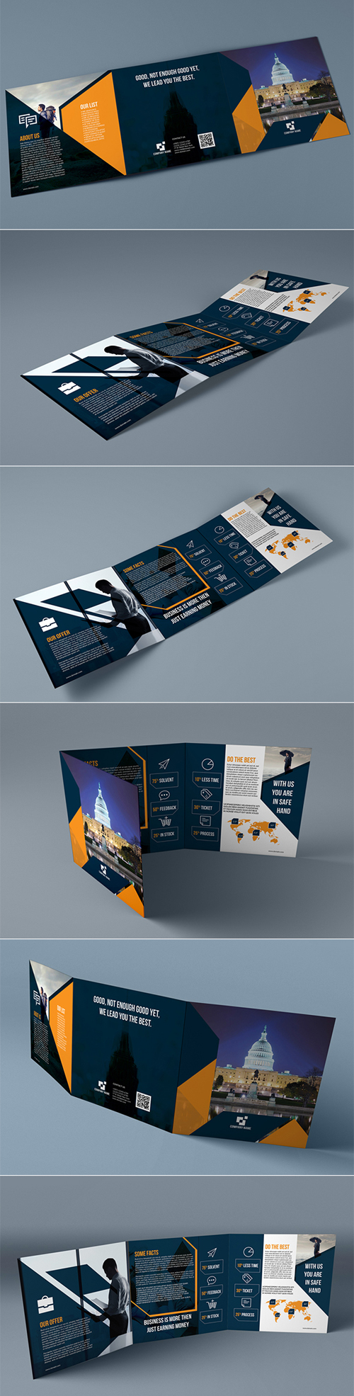 Ultimate Square Trifold Brochure Design