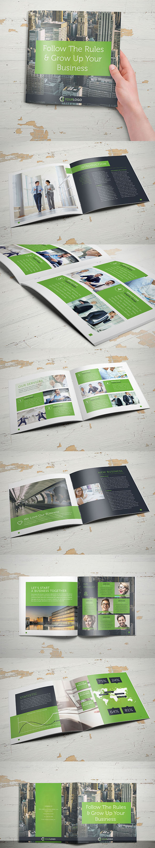 Corporate Business Square Brochure Template