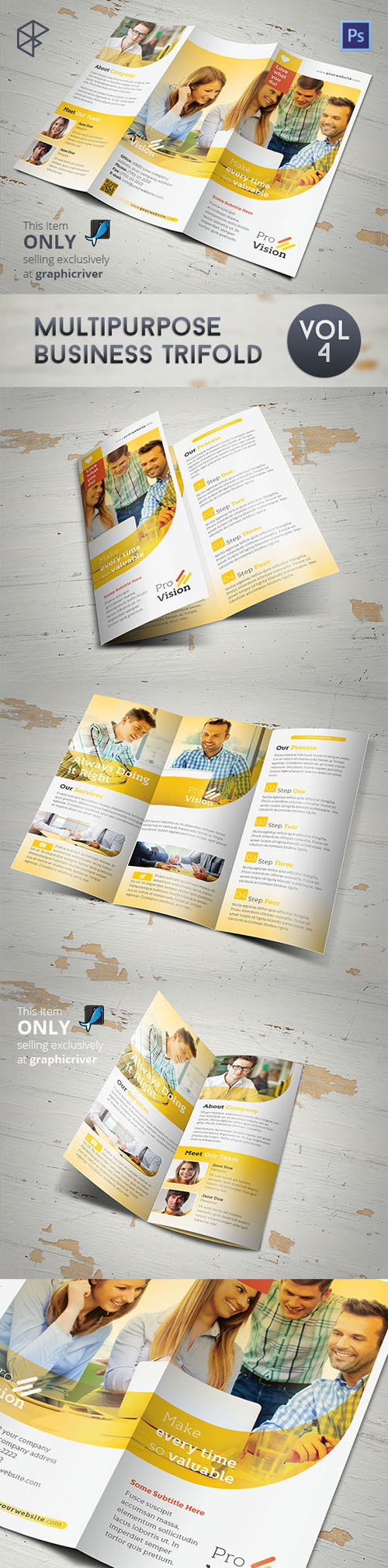 Multipurpose Business Trifold Brochure Design