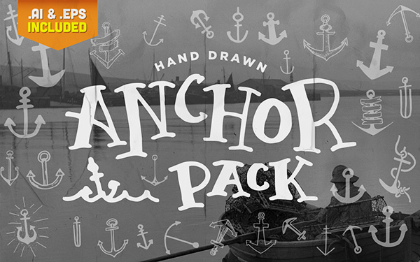 Handdrawn anchor pack