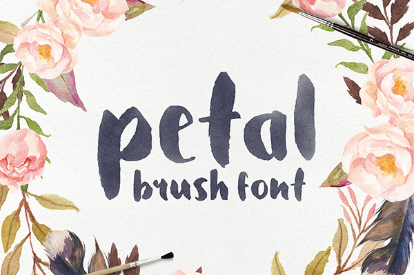 Petal is a beautiful brush font that was handcrafted