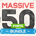 Post thumbnail of Massive 50 Fonts Bundle for Designers