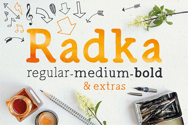 Radka is a tidy and elegant serif typeface