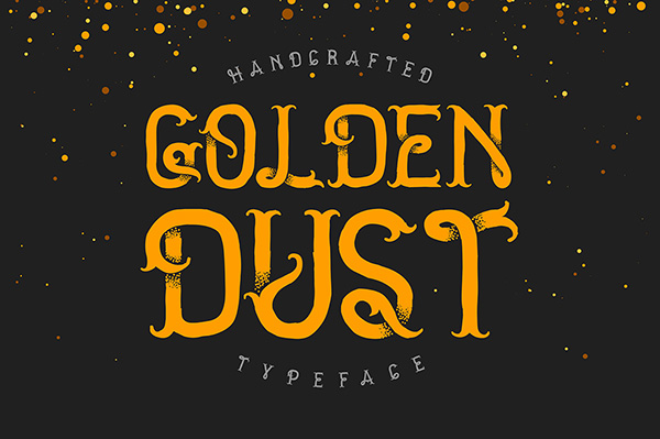 Golden dust truly great font
