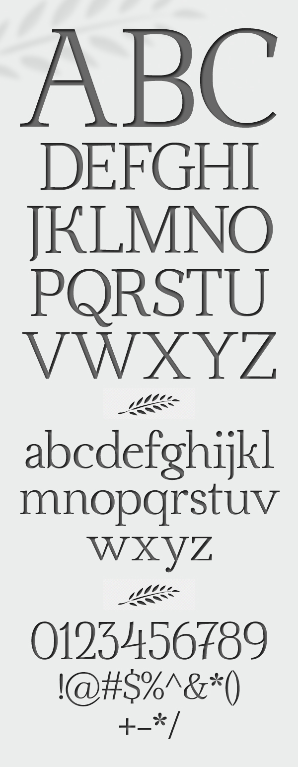 Ahellya font letters