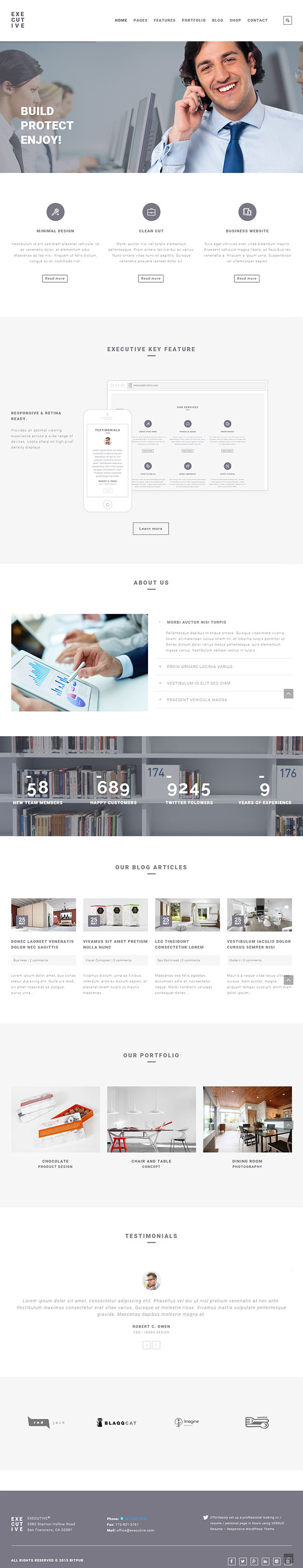 Executive - Responsive Business WordPress Theme