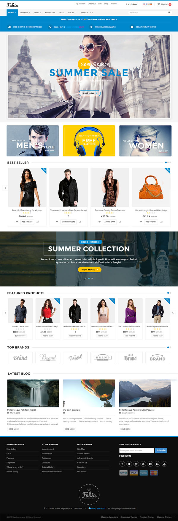 Fabia – Multipurpose WooCommerce Theme
