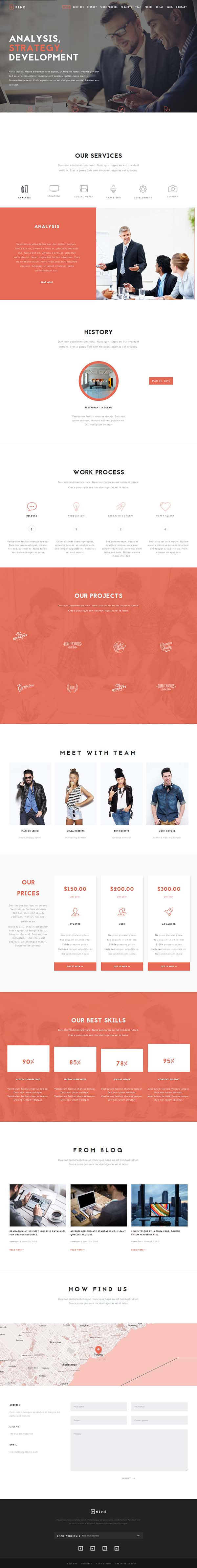 Nine - MultiPurpose One Page Theme