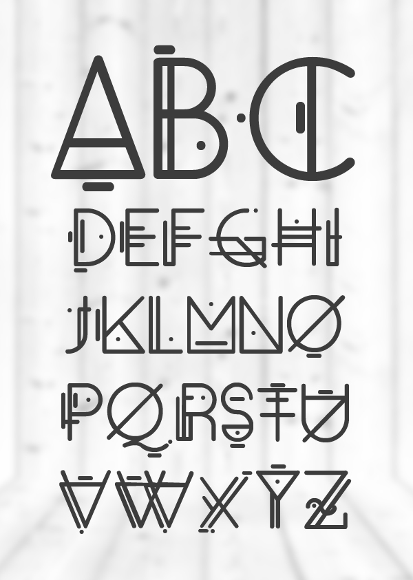 Oko font letters