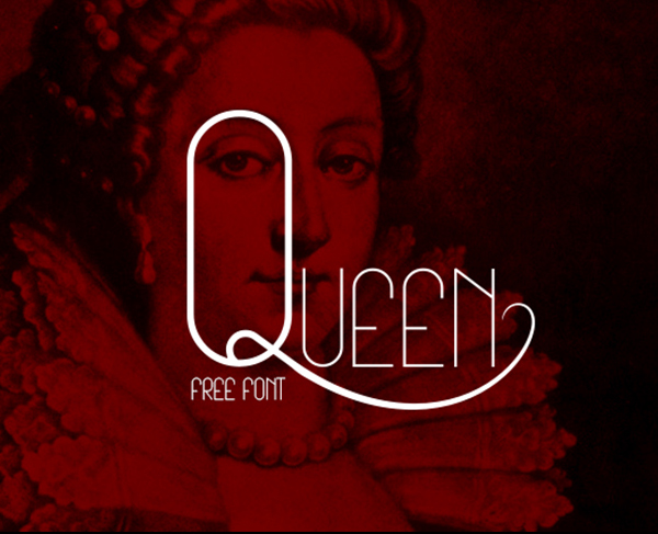 Queen free fonts