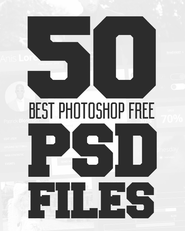 50 Best Free PSD Files for Designers