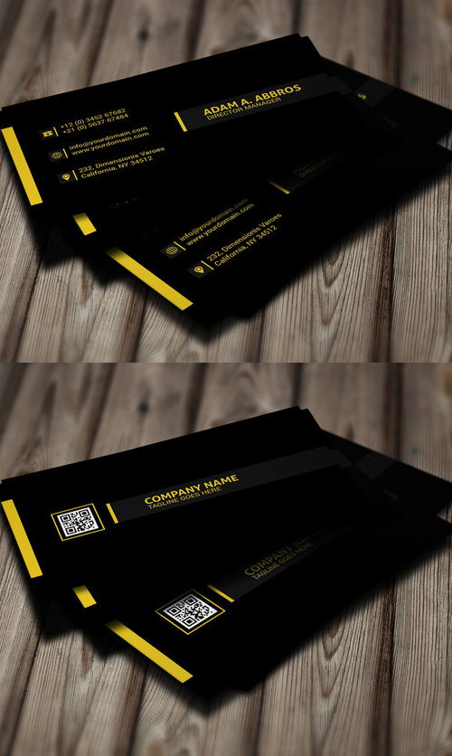 Black Corporte Business Card