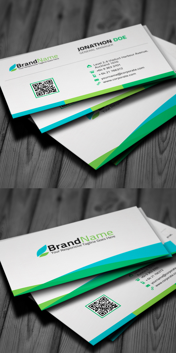 New corporate business card templates design graphic design corporate business card reheart Images