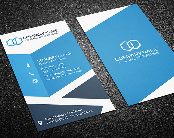 New Corporate Business Card Templates Design Graphic Design - Real estate business card template
