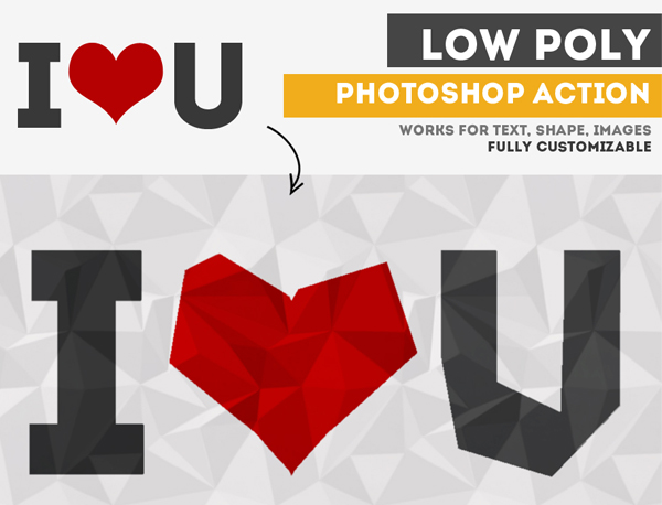 Low-Poly Effect Free Photoshop Action