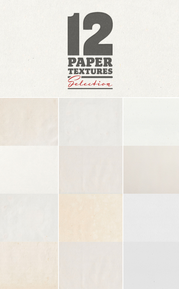 12 Paper Textures Backgrounds