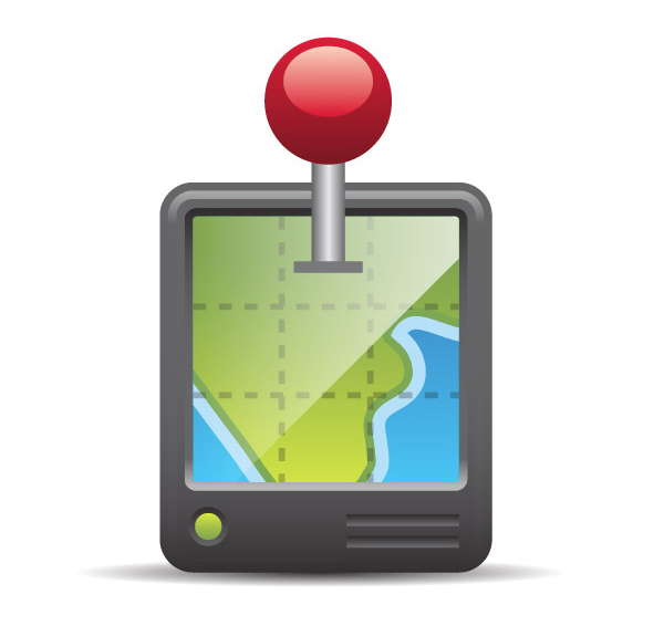 Free GPS Map Vector Icon