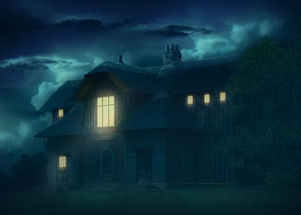 Create Gloomy House Scene In Photoshop Tutorial