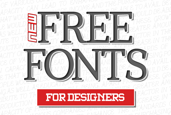 14 New Free Fonts for Designers