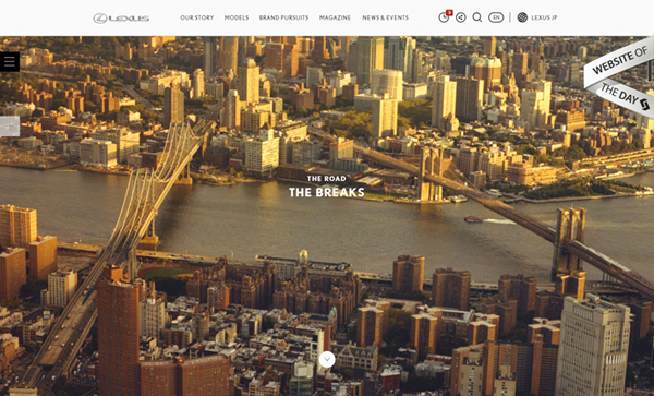 Award winning websites for inspiration