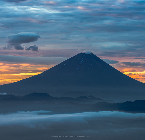 Sunrise glow of Mt.Fuji  Landscape photography
