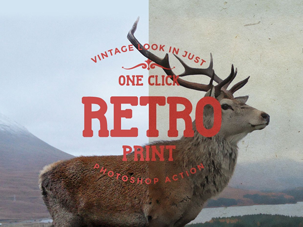 Free Retro Print Photoshop Action