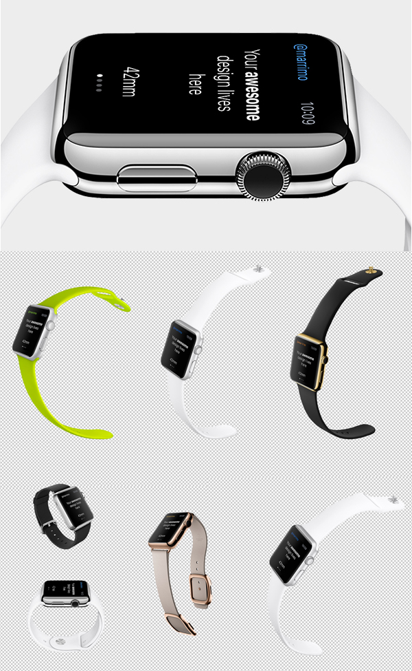 Smart Watch Free PSD Templates