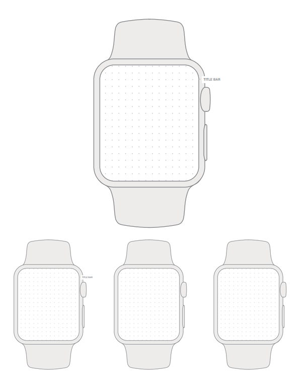 Free Apple Watch Wireframe Template - Printable