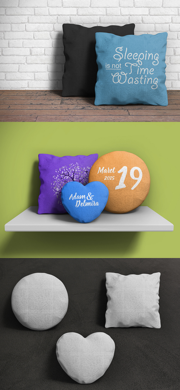 Pillow Free PSD Mockup