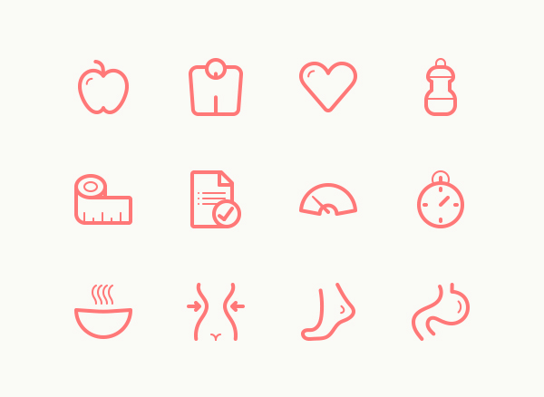Free Fitness Line Icons