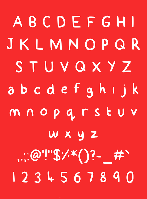 Billy font letters