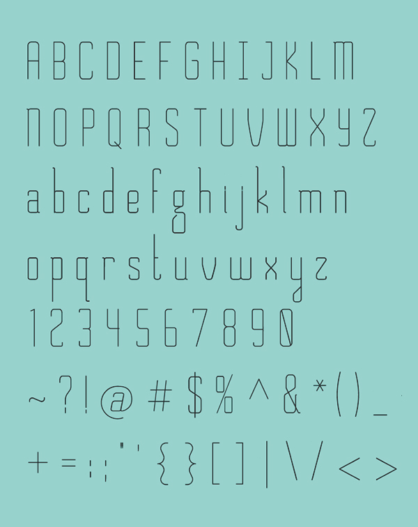 Chirk font letters