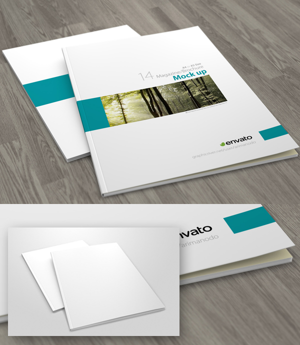 Free A4 Brochure / Magazine Cover Mockup