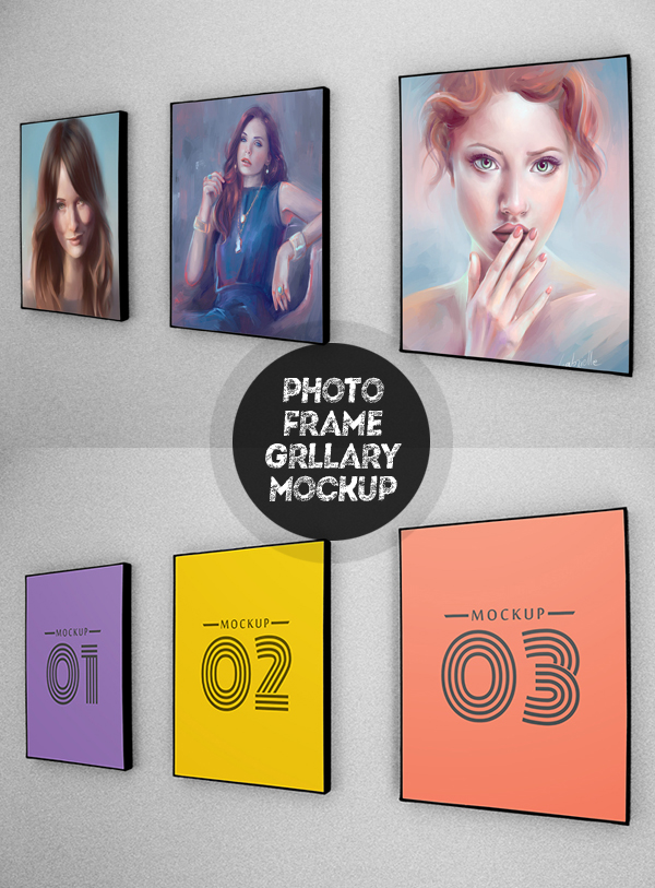 Free Photo Frames / Gallary PSD Mockup