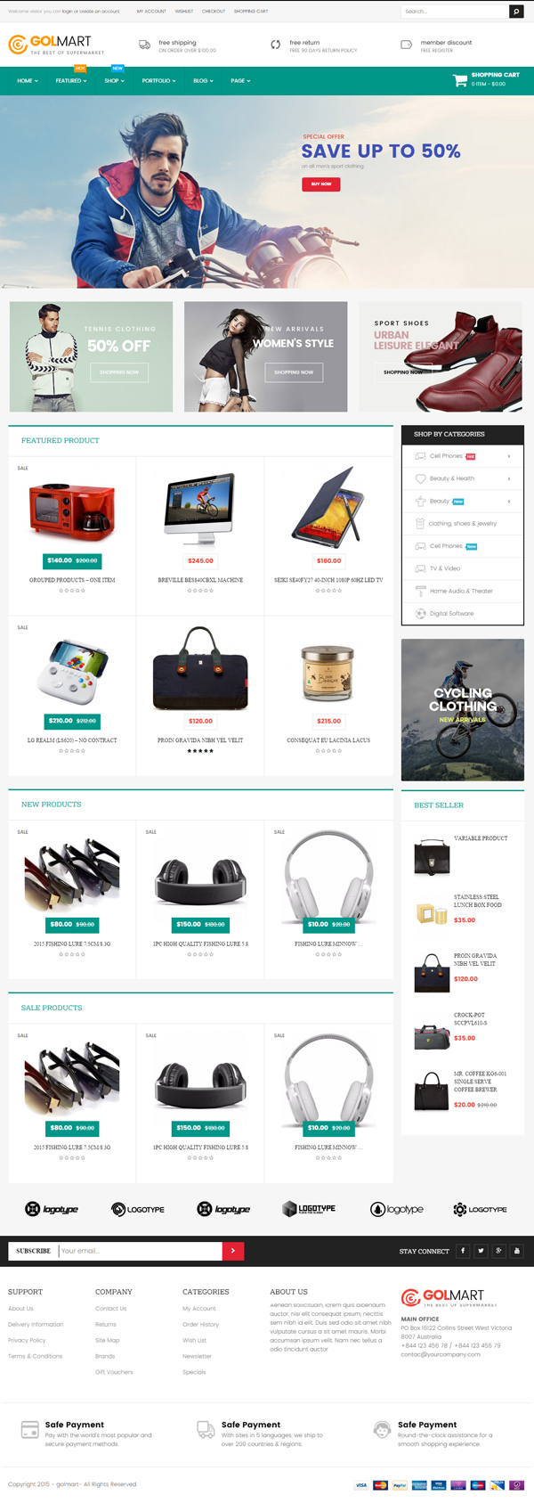 Golmart – Creative WooCommerce WordPress Theme