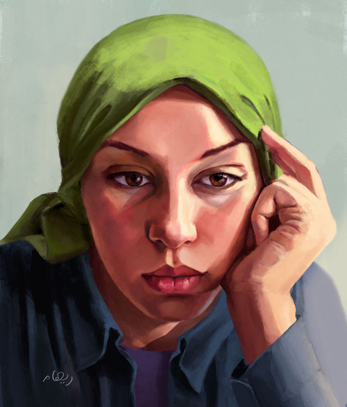 Self Portrait by Reham Hossny