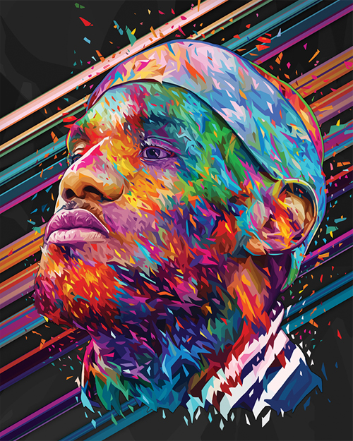 LeBron James Digital Illustration by Alessandro Pautasso