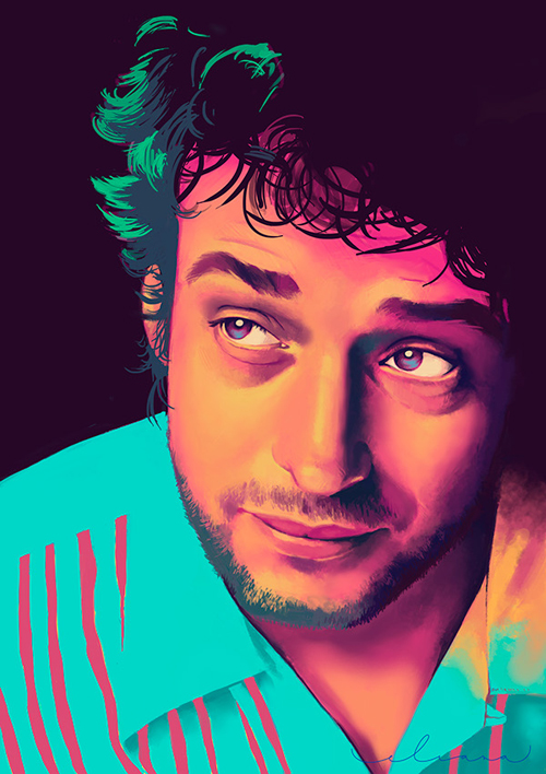 Gustavo Cerati Digital Art Portrait by Eliana Aguirre