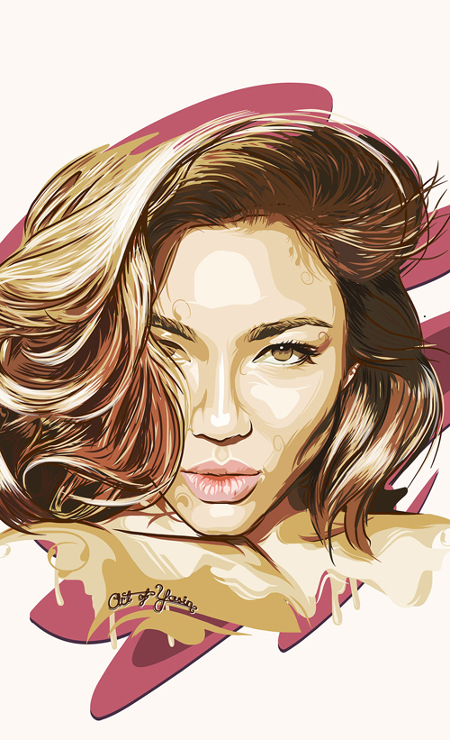 Michelle Lou Lan Portrait illustration work