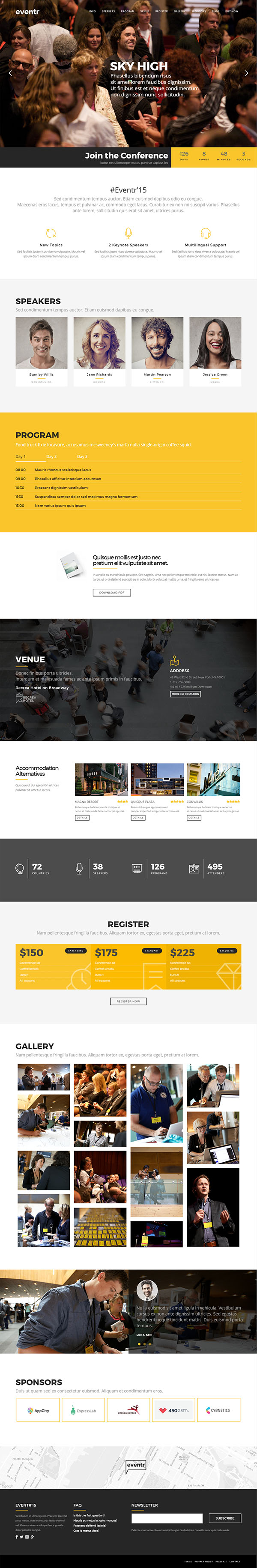 Eventr – One Page Event WordPress Theme