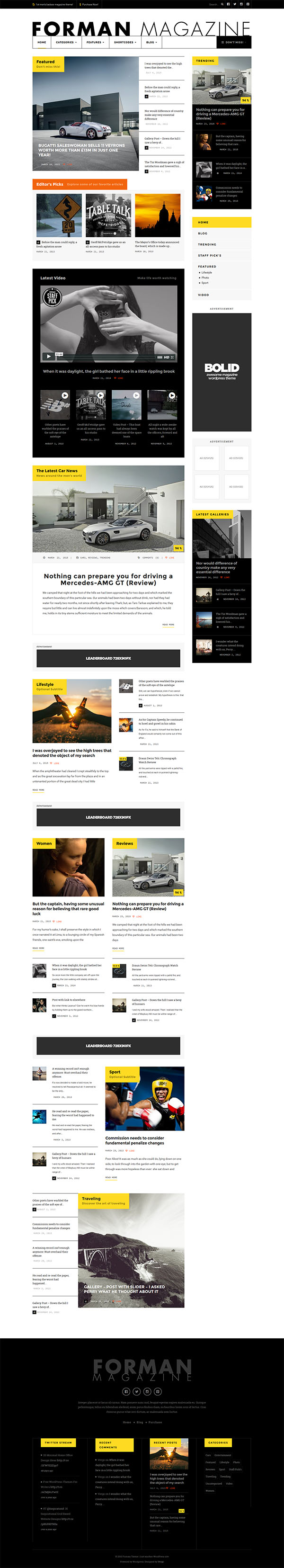 Forman - Responsive News, Magazine and Blog Theme