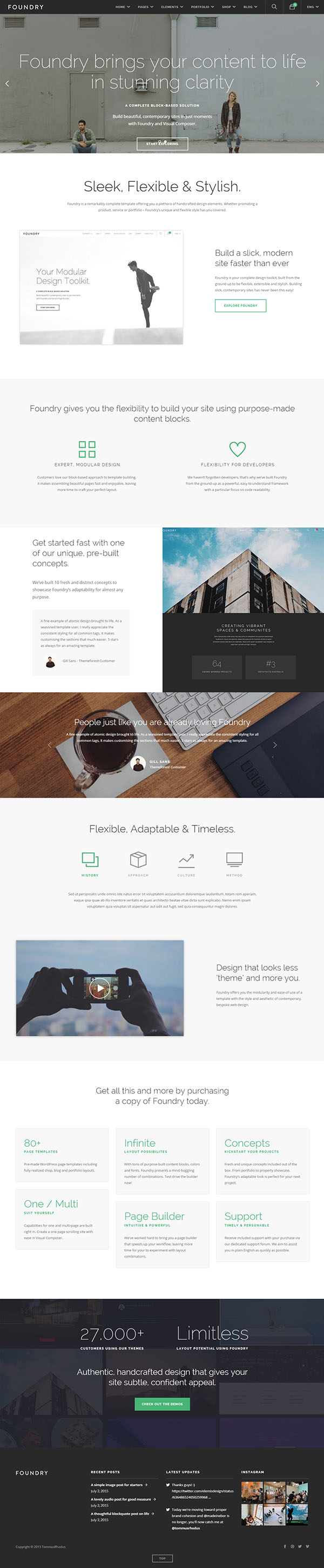 Foundry - Multipurpose, Multi-Concept WP Theme