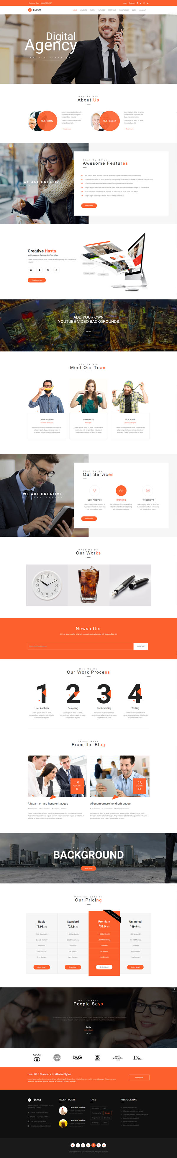 Hasta - Responsive Multi-Purpose HTML5 Template