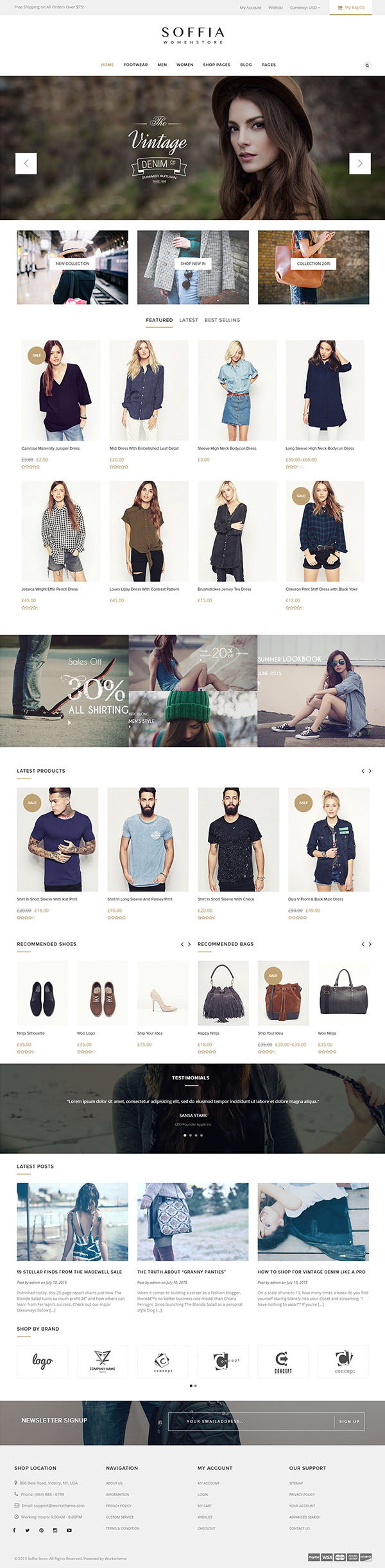 Soffia – The WordPress and WooCommerce Theme